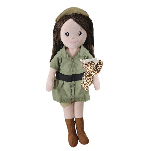 ZOOKEEPER DOLL WITH GIRAFFE
