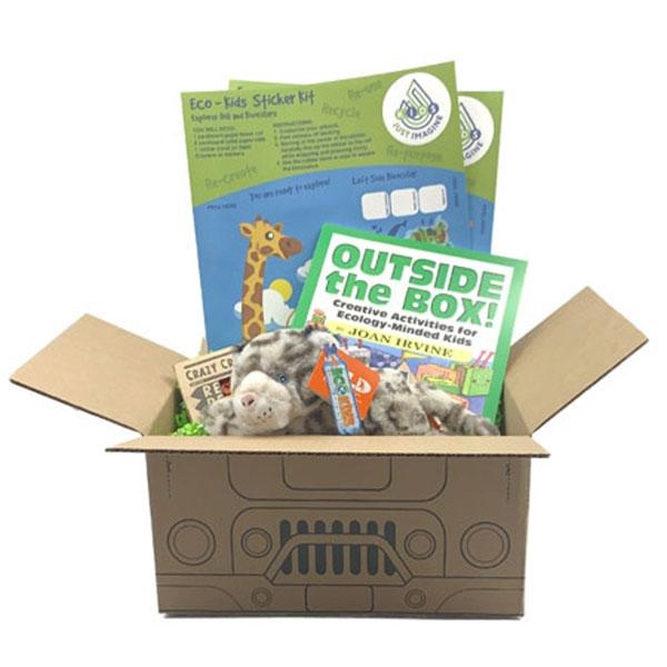 Just Imagine Upcycled Snow Leopard Plush Box