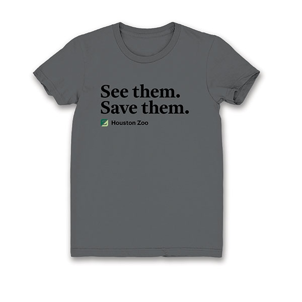 ADULT TEE SHORT SLEEVE SEE THEM SAVE THEM - GRAY