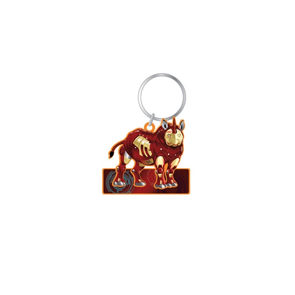 POP CULTURE RHINO KEYCHAIN