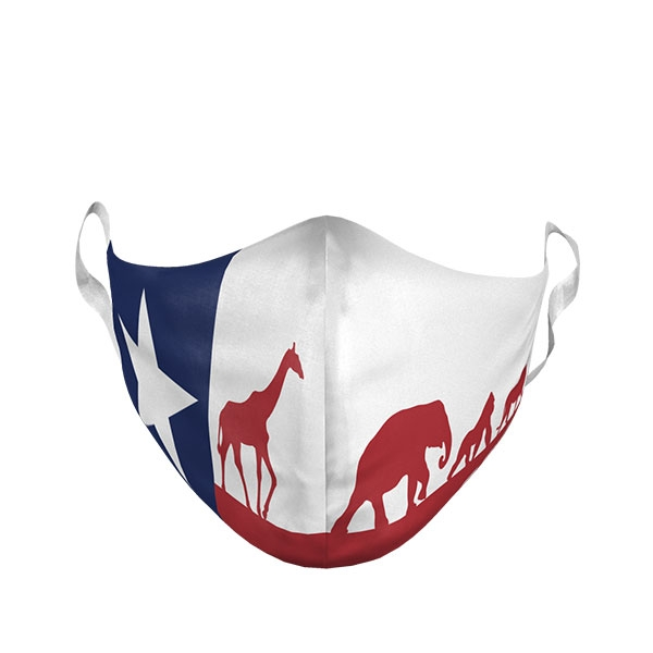 YOUTH TEXAS FLAG ZOO FACE MASK