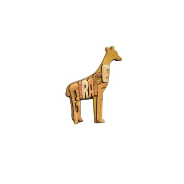 WOOD GIRAFFE MAGNET
