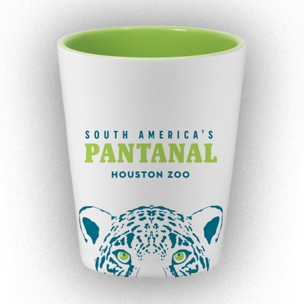 PANTANAL JAGUAR EYES SHOT GLASS