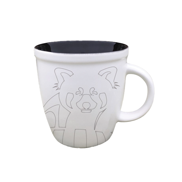 ETCHED RED PANDA MUG