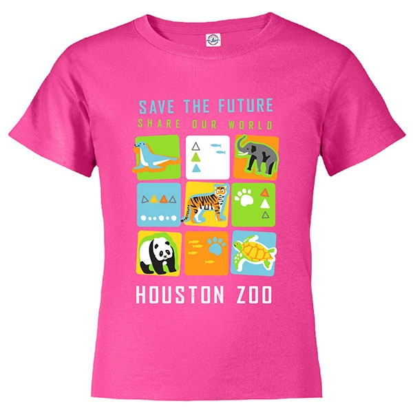 YOUTH SHORT SLEEVE TEE SAVE THE FUTURE CUBES - PINK