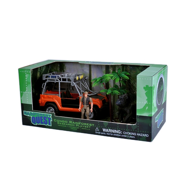 RAINFOREST QUEST GORILLA CONGO PLAYSET