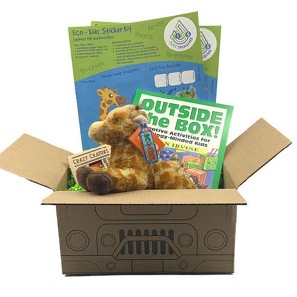 Just Imagine Upcycled Giraffe Plush Box