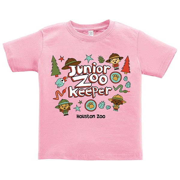 TODDLER TEE JUNIOR ZOOKEEPER - PINK