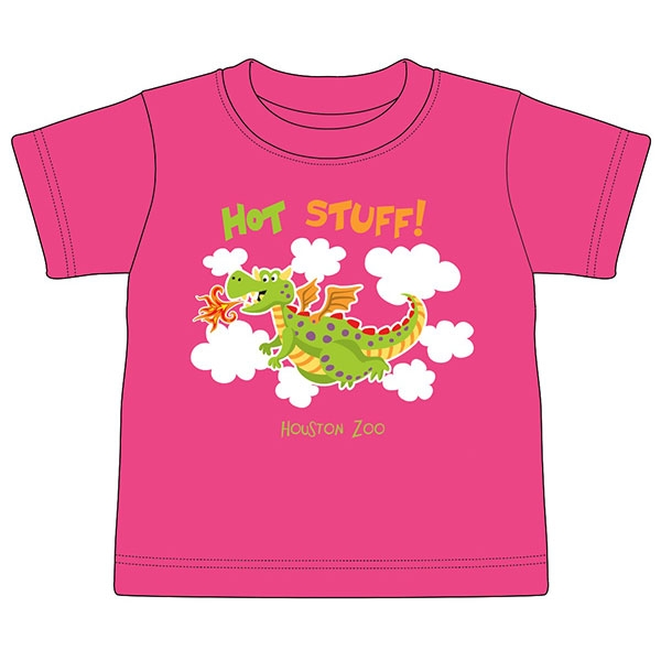 TODDLER TEE HOT STUFF DRAGON PINK