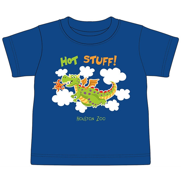 TODDLER TEE HOT STUFF DRAGON BLUE