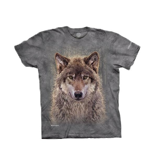 ADULT UNISEX TEE GREY WOLF