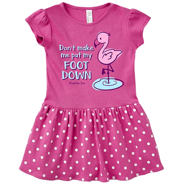 TODDLER DRESS FLAMINGO FOOT - PINK