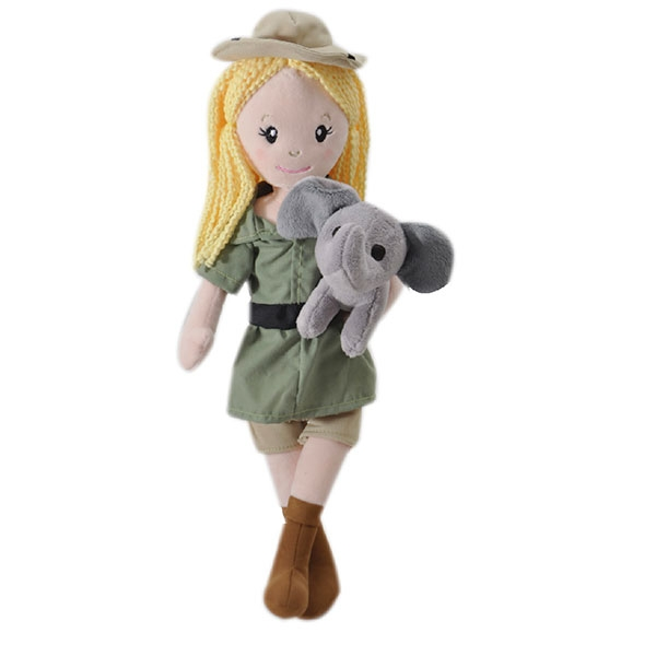 ZOOKEEPER DOLL WITH ELEPHANT