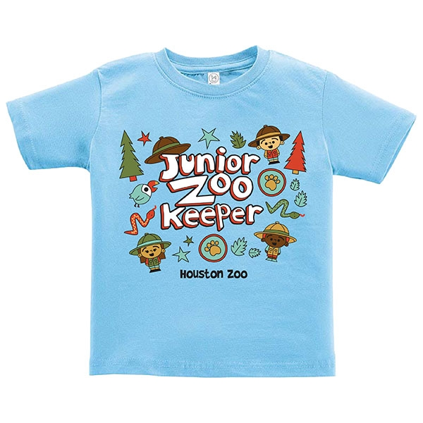 TODDLER TEE JUNIOR ZOOKEEPER - LIGHT BLUE
