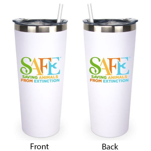 SAFE TRAVEL TUMBLER - WHITE