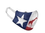 ADULT TEXAS FLAG ZOO FACE MASK